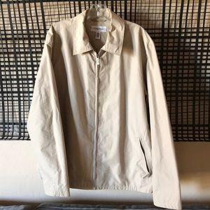 Calvin Klein Men's lightweight jacket Size L tan